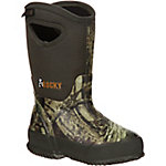 Rocky Kids 10 in. Mossy Oak Break-Up Infinity Core Waterproof Insulated Pull-On Boot