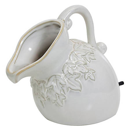 Pond Boss Ceramic Pouring Pitcher Spitter, Cream