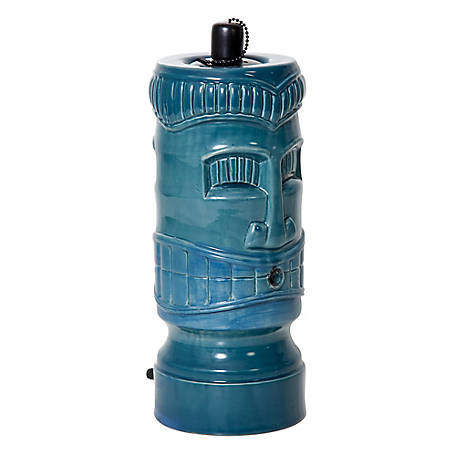 Pond Boss Ceramic Tiki Torch Spitter, Turquoise