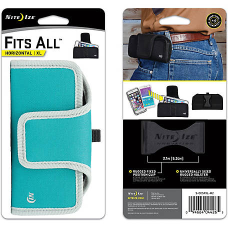 Nite Ize Fits All Horizontal Phone Case, XL, Seafoam