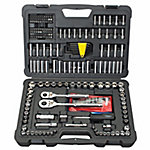 Stanley 226-Piece Mechanic Tool Set Polished Chrome Ratchet Socket SAE Metric MM
