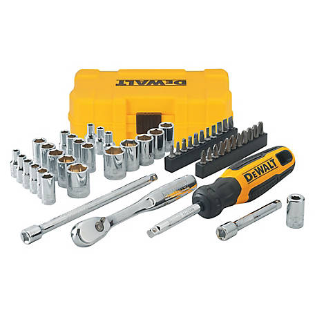 DeWALT 50 Piece 1/4 in. Nano Mechanic's Tool Set, DWMT81610