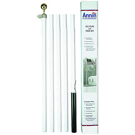 Annin 18 ft. Steel Flagpole Set with 3 ft. x 5 ft. Poly/Cotton Flag