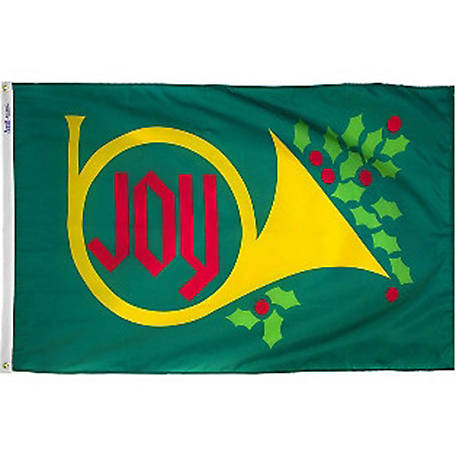 Annin Joy Horn Holiday Flag, 2 ft. x 3 ft.