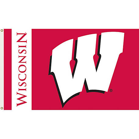 Annin Officially Licensed University of Wisconsin Badgers Flag, 3 ft. x 5 ft.