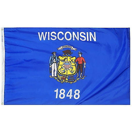 Annin Wisconsin State Flag, 3 ft. x 5 ft.