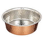 Neater Pet Brands Medium Hammered Copper Finish Bowl