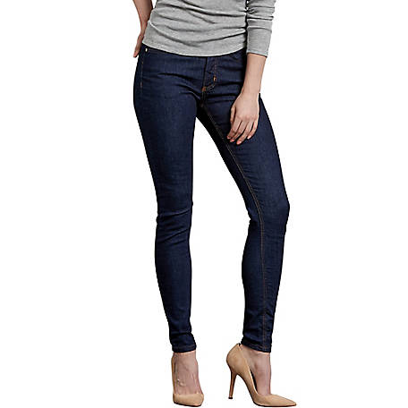 Dickies Women's Perfect Shape Skinny Leg Stretch Denim Jeans