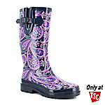 Western Chief Women's Wild Paisley Navy Rain Boot