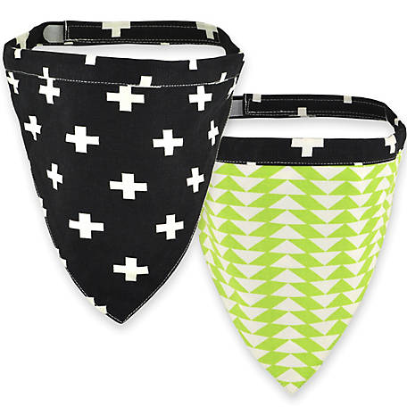 Territory Reversible Bandana, Black/Green, Small