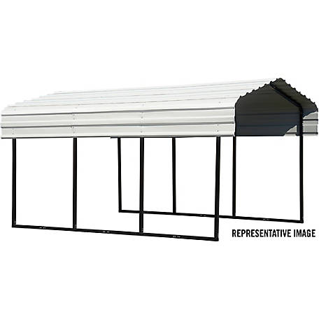 Arrow Steel Carport 10 x 15 ft. Black/Eggshell, CPH101507