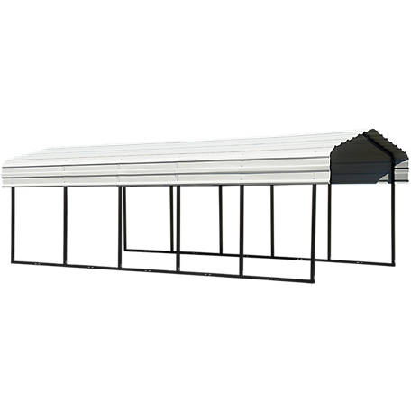 Arrow Steel Carport 10 x 24 ft. Black/Eggshell, CPH102407