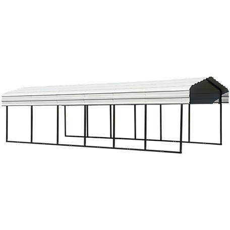Arrow Steel Carport 10 x 29 ft. Black/Eggshell, CPH102907