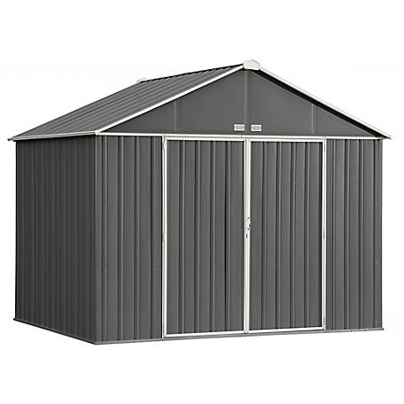 Arrow EZEE Shed Steel Storage 10 x 8 ft. Galvanized Extra High Gable