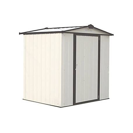 Arrow Ezee Shed Steel 6 X 5 Ft Cream Charcoal, EZ6565LVCRCC