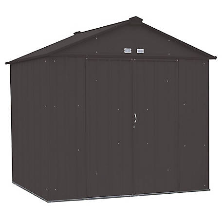 Arrow EZEE Shed Steel Storage 8 x 7 ft. Galvanized High Gable