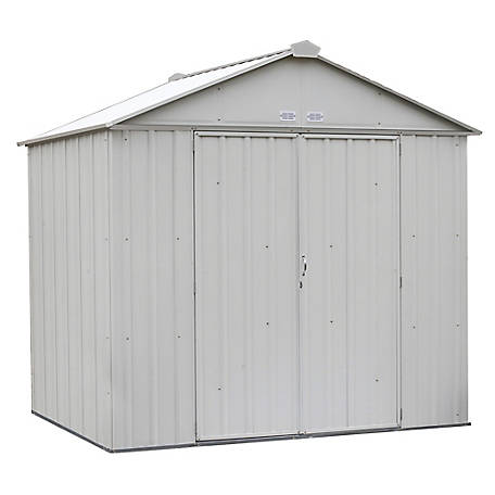 Arrow Ezee Shed Steel 8 X 7 Ft High Gable Cream, EZ8772HVCR