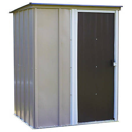 Arrow Brentwood 5 x 4 ft. Pent Steel Shed, Coffee, BW54