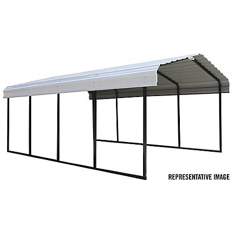 Arrow Steel Carport 12 x 24 ft., Black/Eggshell, CPH122407