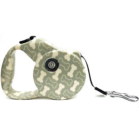 American Kennel Club AKC Bone Print Retractable Dog Leash