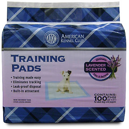 American Kennel Club AKC Ultra Absorbent Training Pads, Lavender Scented, Pack of 100