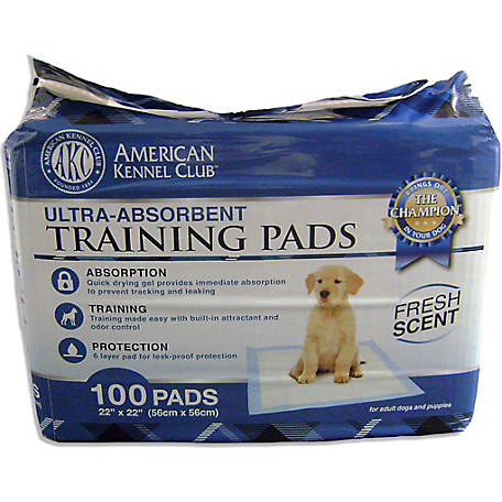 American Kennel Club AKC Ultra Absorbent Training Pads, Fresh Scent, Pack of 100