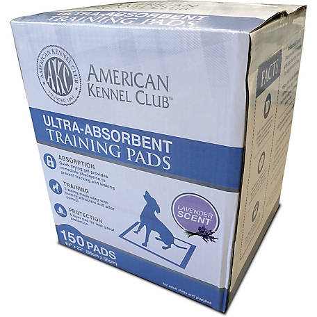 American Kennel Club AKC Ultra Absorbent Training Pads, Lavender Scented, Pack of 150
