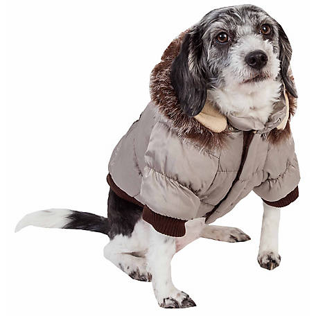 Pet Life Fashion Pet Parka Coat, Extra Large, Snow Camouflage