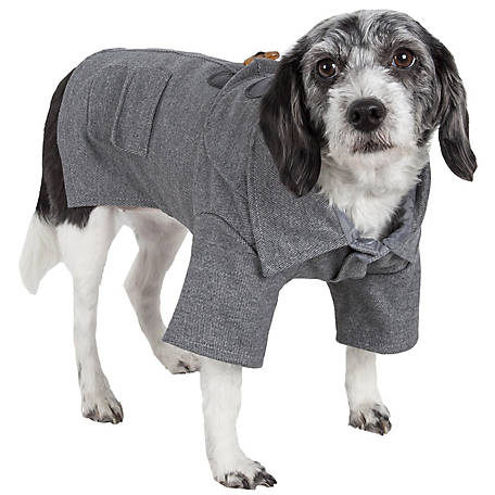 Pet Life Military Static Riveted Fashion Collared Wool Pet Coat