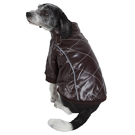 Pet Life Wuff-Rider Fashion Suede Stitched Pet Coat