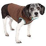 Touchdog Waggin Swag Reversible Insulated Pet Coat, Extra Large, Blue/Grey
