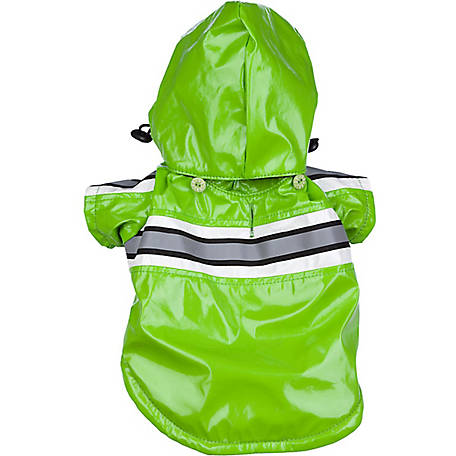 Pet Life Reflecta-Glow Reflective Waterproof Adjustable PVC Pet Raincoat