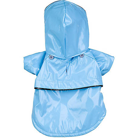 Pet Life Baby Blue PVC Waterproof Adjustable Pet Raincoat