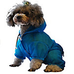 Pet Life The Ultimate Waterproof Thunder-Paw Adjustable Zippered Folding Travel Dog Raincoat, Extra Large, Yellow