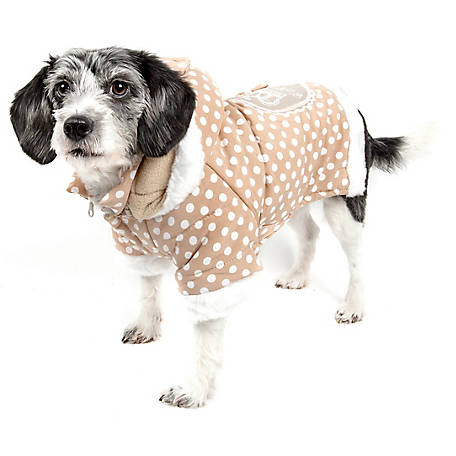 Pet Life Polka-Dot Couture-Bow Pet Hoodie Sweater