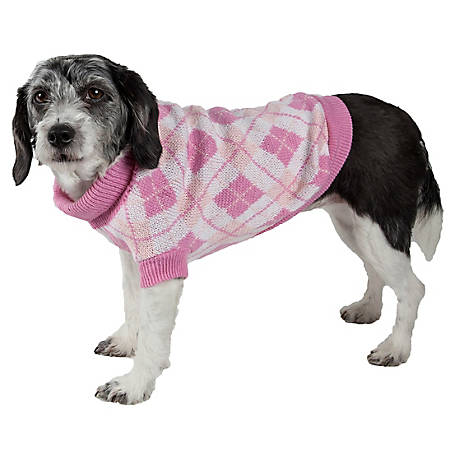 Pet Life Argyle Style Ribbed Fashion Pet Sweater
