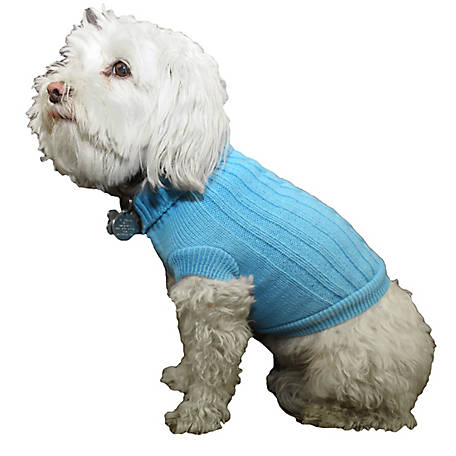 Pet Life Heavy Cotton Rib-Collared Pet Sweater