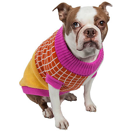 Pet Life Lovable-Bark Heavy Knit Ribbed Fashion Pet Sweater