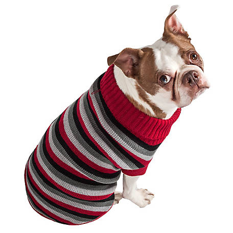 Pet Life Polo-Casual Lounge Cable Knit Designer Turtle Neck Dog Sweater