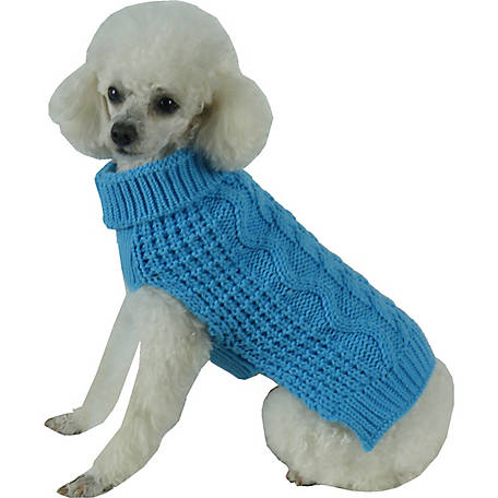 Pet Life Swivel-Swirl Heavy Cable Knitted Fashion Designer Dog Sweater