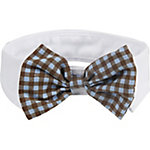 Pet Life Fashionable and Trendy Dog Bowtie, Black, White