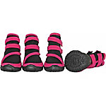 Pet Life Performance-Coned Premium Stretch Supportive Pet Shoes, Set of 4, Large, Black/Blue