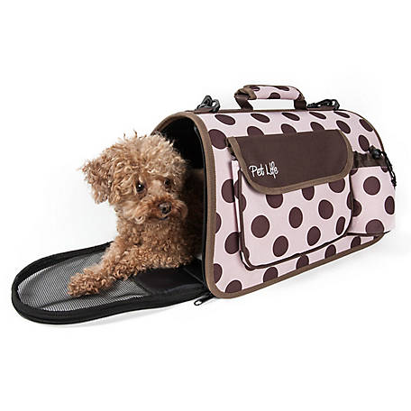 Pet Life Airline-Approved Folding Zippered Casual Pet Carrier