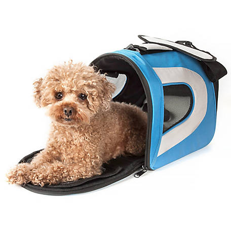 Pet Life Airline-Approved Folding Zippered Sporty Mesh Pet Carrier