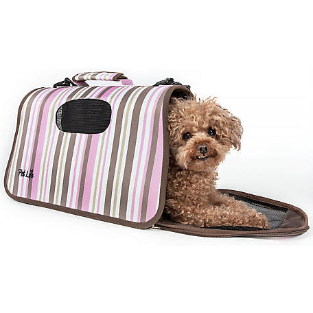 Pet Life Airline-Approved Folding Zippered Sporty Cage Pet Carrier