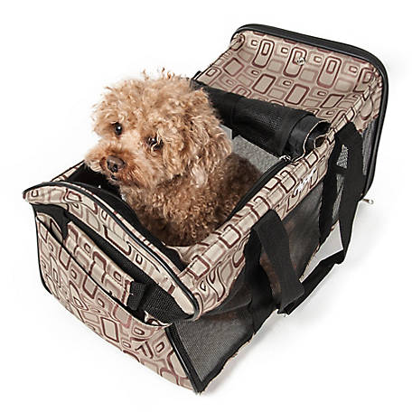 Pet Life Airline-Approved Flightmax Collapsible Pet Carrier, Brown