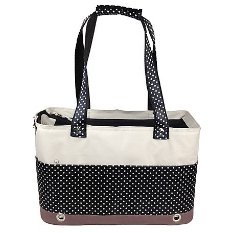 Pet Life Fashion Tote Spotted Pet Carrier