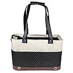 Pet Life Fashion Tote Spotted Pet Carrier, White