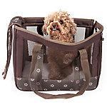 Pet Life Surround View Posh Fashion Pet Carrier, Brown