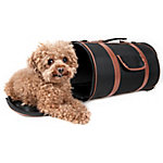 Pet Life Airline-Approved Fashion Cylinder Posh Pet Carrier, Black